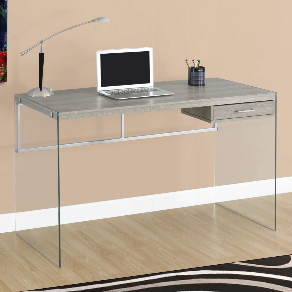 Schreibtisch Glas Metall 2021