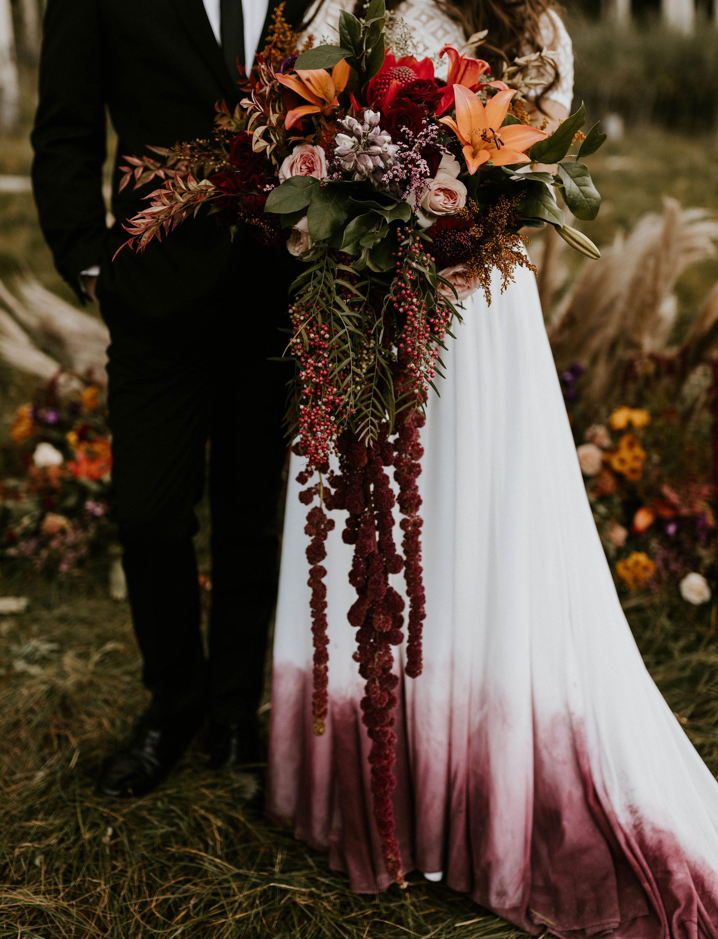 Dreamy Autumn Colors An Ombre Wedding Skirt Pagan