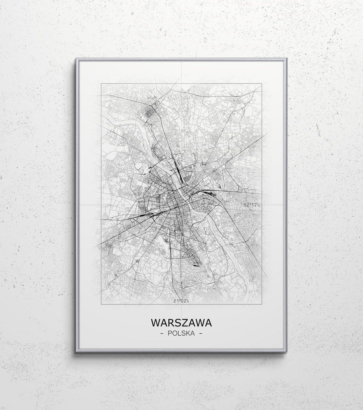 Plakat Mapa Warszawa Gdzie Kupić Wwweplakatypl Mapy