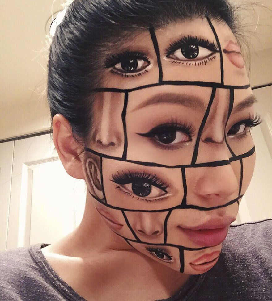Woman Gives Up Teaching To Create Optical Illusions With Makeup And It S Messing With Our Minds Makeup Halloween Makeup Diy Crazy Makeup