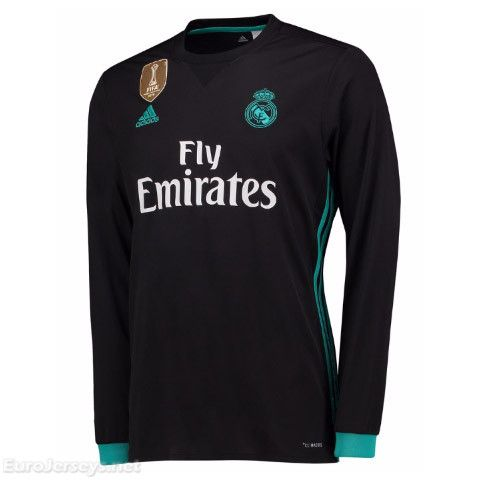 43f5e644 $18 Eurojerseys.net maglietta da calciatore Real Madrid 2017-18 Away Long  Sleeved Football Shirt Soccer Jersey Top camiseta de fútbol