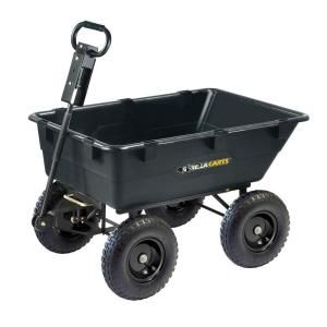 129 Gorilla Carts 1200 Lb Heavy Duty Poly Dump Cart Gor866d At The Home Depot
