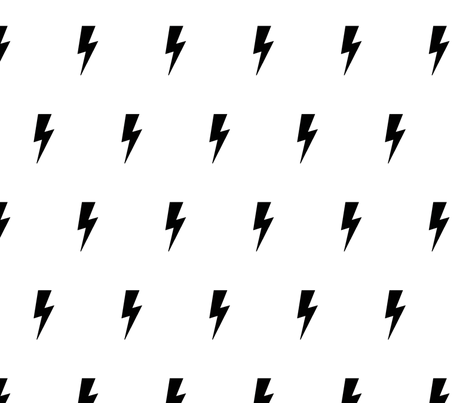 Lightning Bolt Black On White Fabric By Kleababy On Spoonflower Custom Fabric White Pattern Background Iphone Background Wallpaper Collage Background