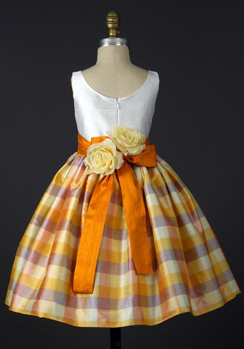 Brides: Flower Girl Dresses for a Fall Wedding.. purple and orange ...