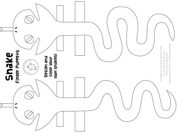 ART – Snake Finger Puppets | Science/Nature Activities | Pinterest ...