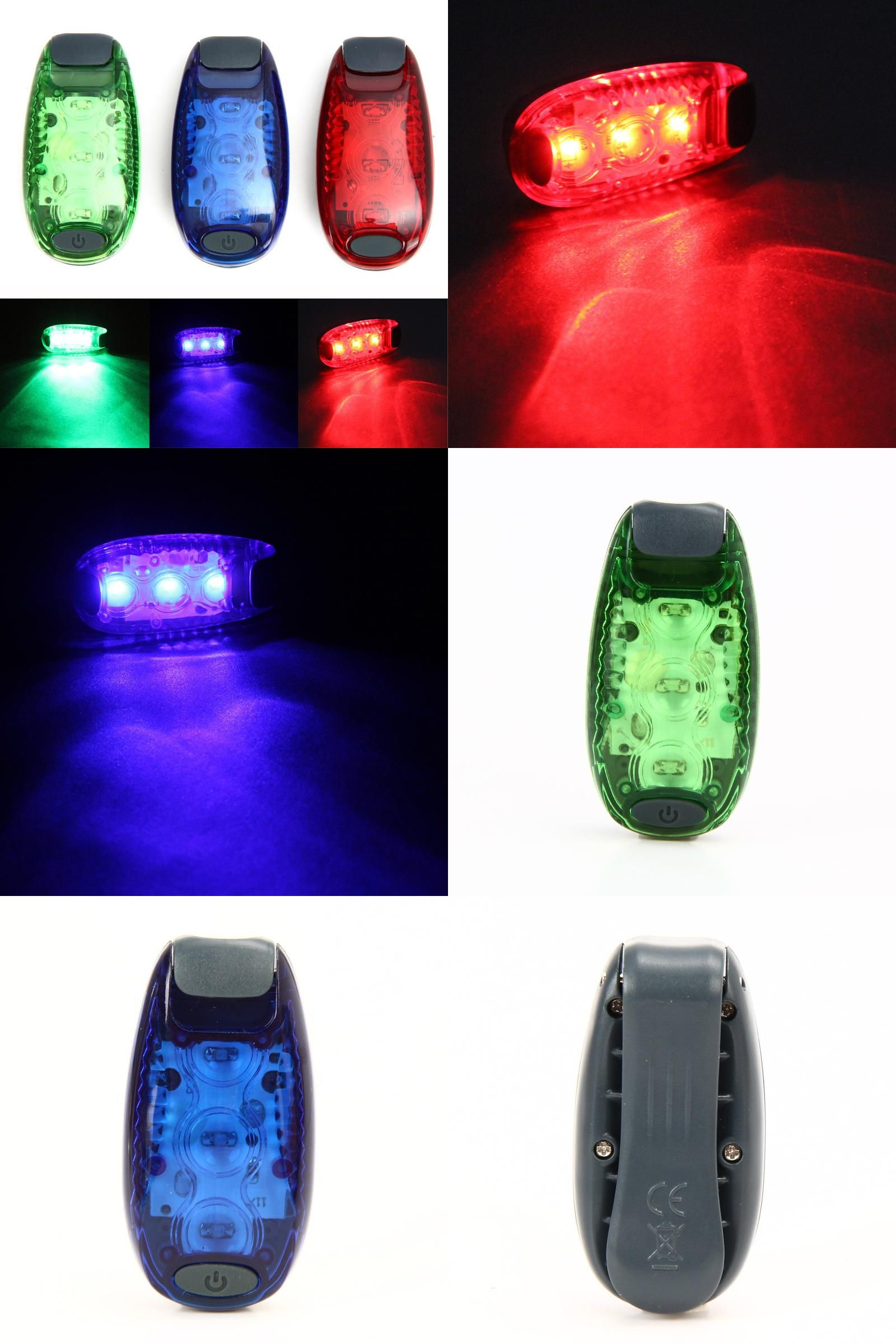 4 LED Safety Bike Light Taillight Warning Bicycle Backpack Helmet Running Lamp