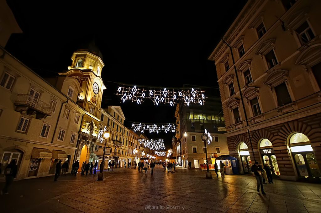 Rijeka By Night Croatia Rijeka Croatia Ferry Building San Francisco