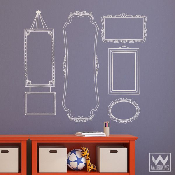 Vintage Frame Vinyl Wall Decal Set Vinyl Cutting Pinterest