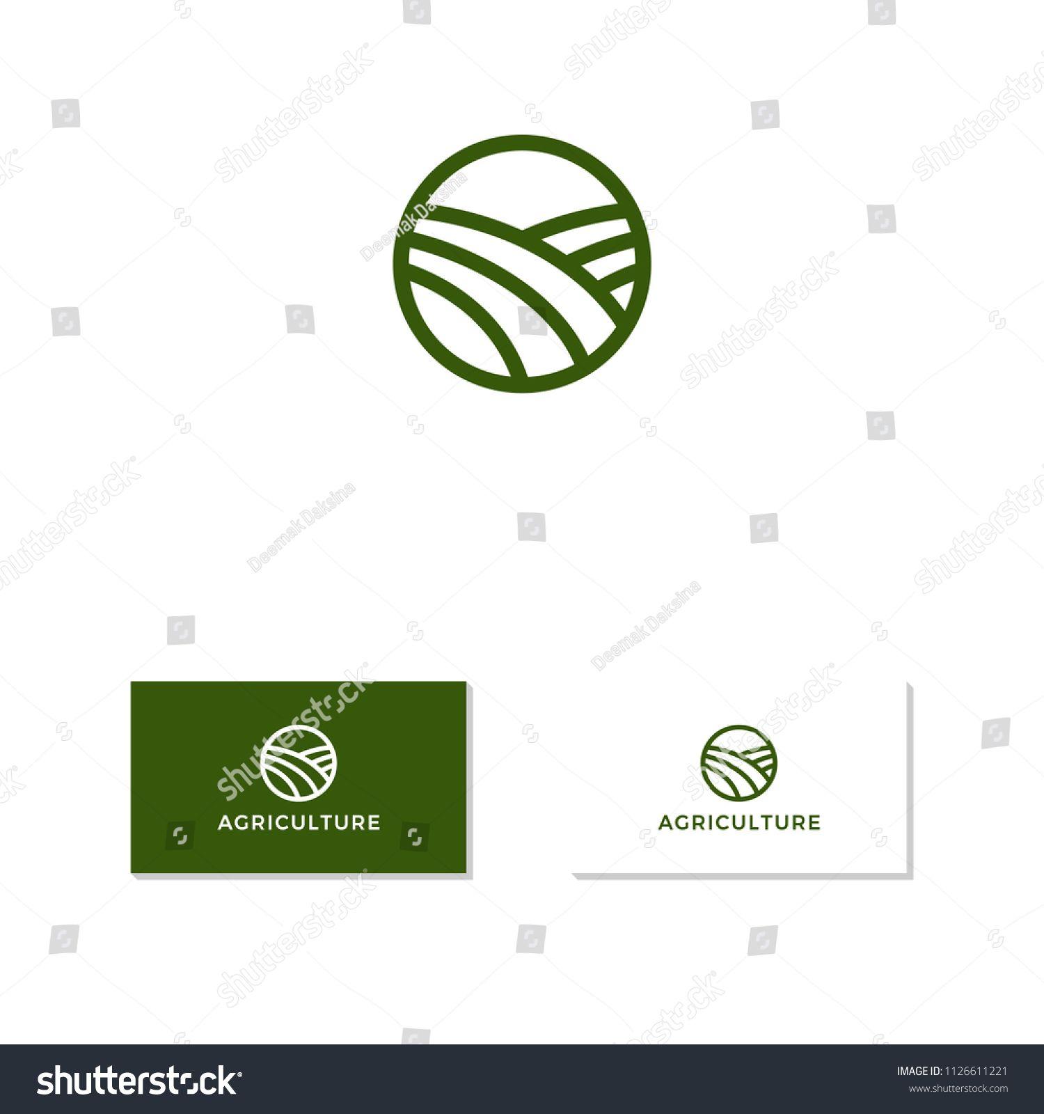 Agriculture Logo Design Landscape Agricultural Agriculture Button