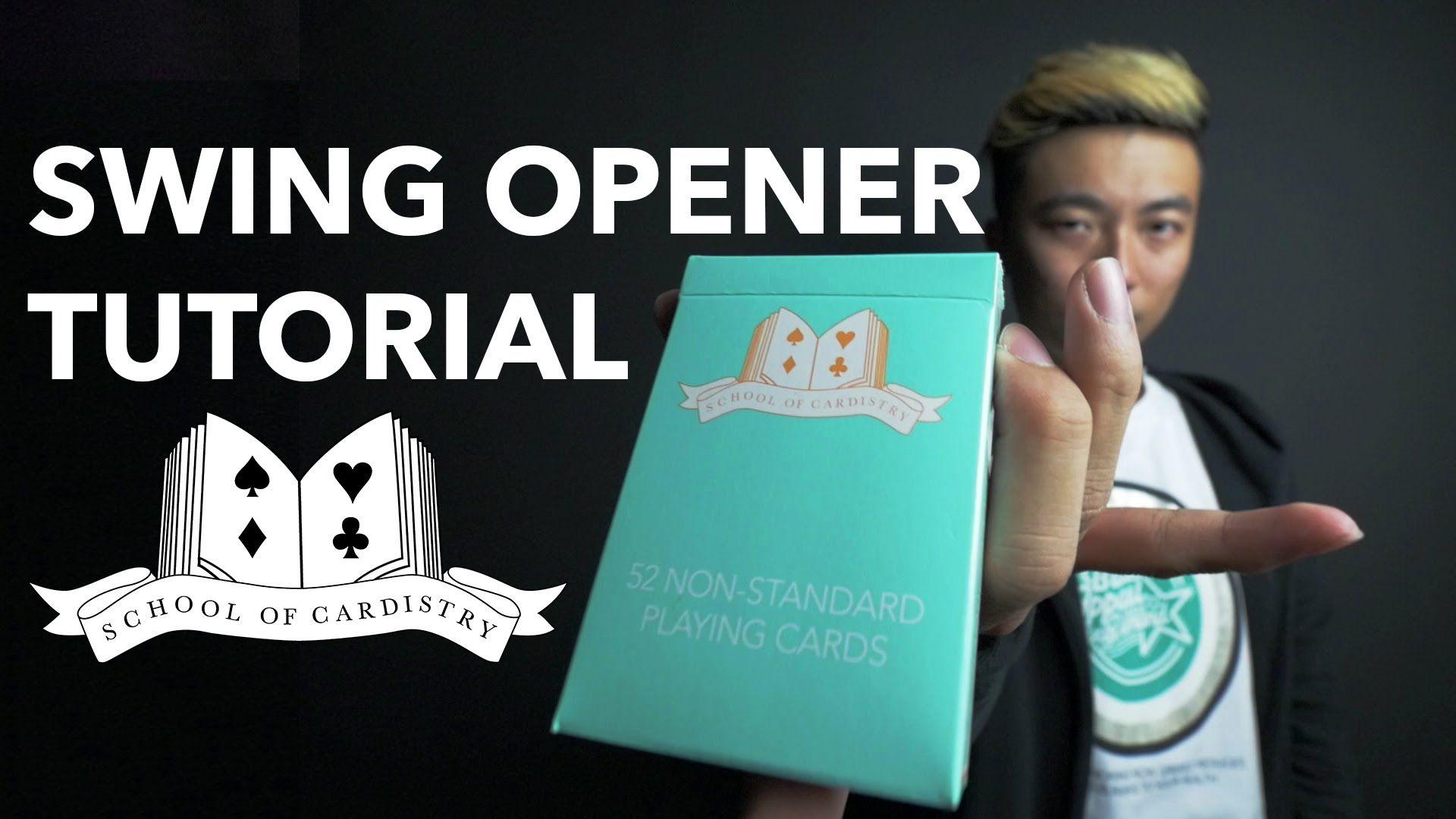 cardistry for beginners deck opener  swing opener
