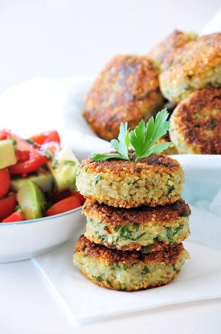 Photo of Quinoa potato patties gluten-free, vegan with a citrus salad variation …