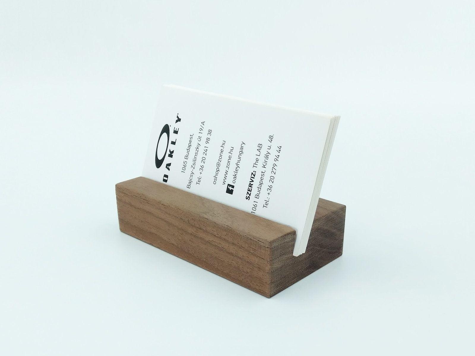 Walnut Wood Business Card Holder