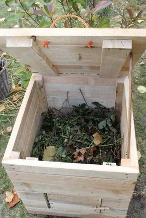 Construire un coffre à compost en cette saison est aussi d\'actualité ...