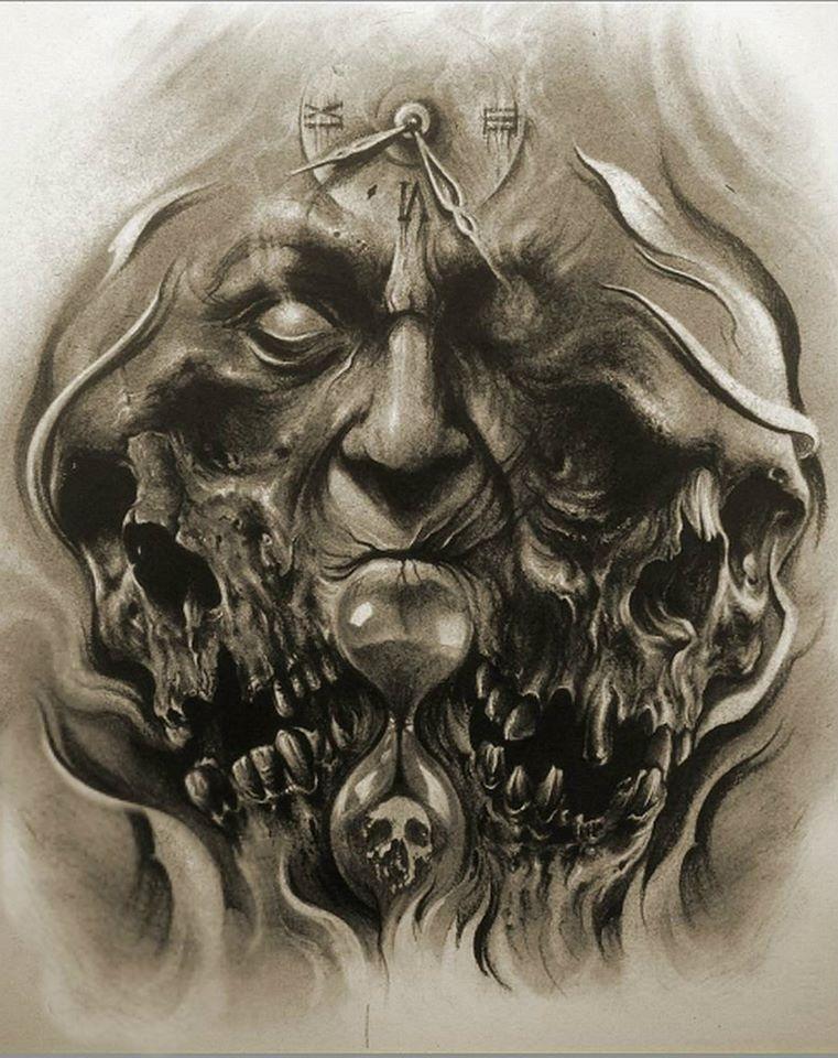 Unholy Trinity Skull Tattoos Evil Tattoos Skull Tattoo Design