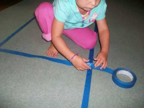 http://www.YourTherapySource.com  This activity idea encourages sensory motor skill development.  You should adapt the activity based on the children's physical abilities.  Here are some suggested way to use an indoor ladder path.  Visit http://www.YourTherapySource.com for more sensory motor activity ideas.