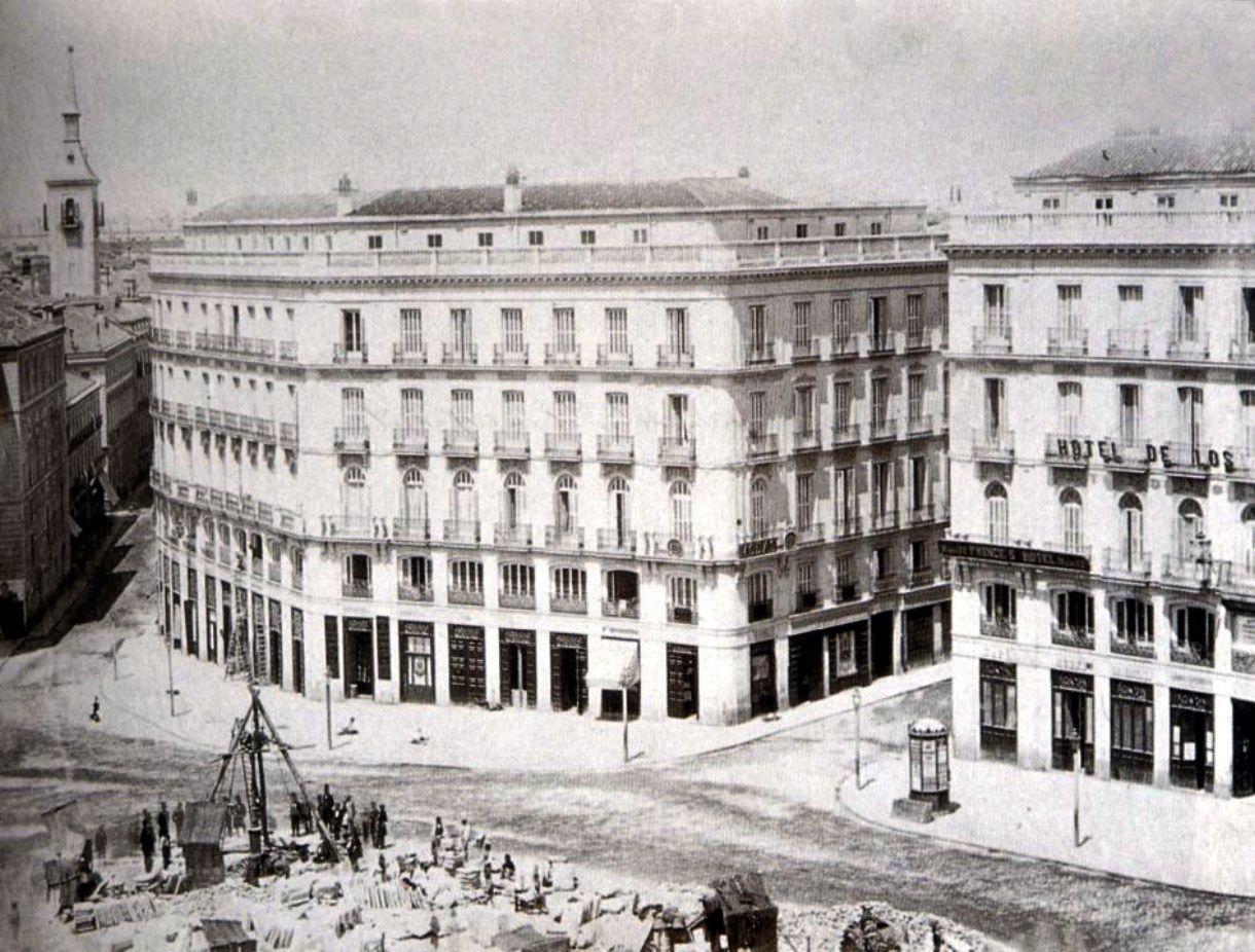 En 1860 se instala fuente con surtidor de 30 metros de altura en Puerta del Sol - Portal Fuenterrebollo