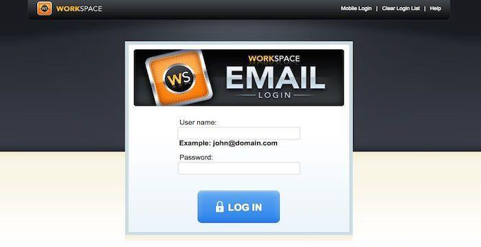 Workspace Mobile login