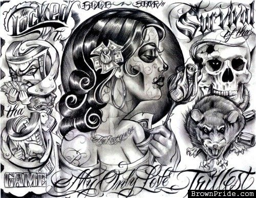 My Only Love Tattoo Flash By BOOG STAR CHICANO ART