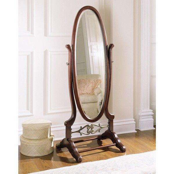 Heirloom Cherry Cheval Floor Mirror ($410) ❤ liked on Polyvore ...