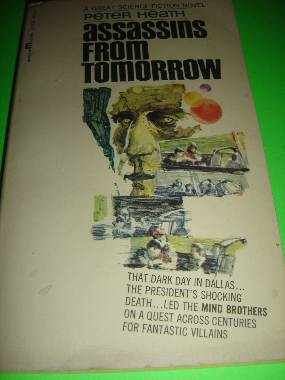 ASSASSINS FROM TOMORROW ~ By Peter Heath 1967 Lancer Paperback Book