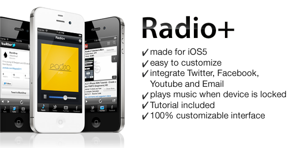 Radio App for iPhone iOS5 Iphone mobile, App, Mobile app
