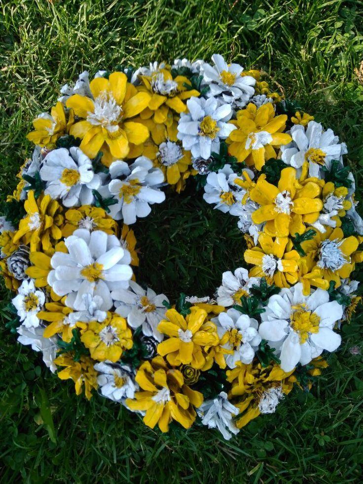 Daisy pine cones - Schöne Ideen #pineconeflowers