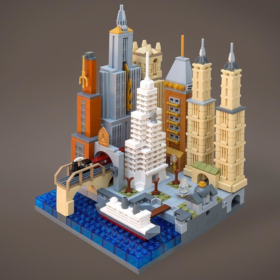 Lego Inspired Lego City Inspired By 1920s Nyc Architecture By Jeff