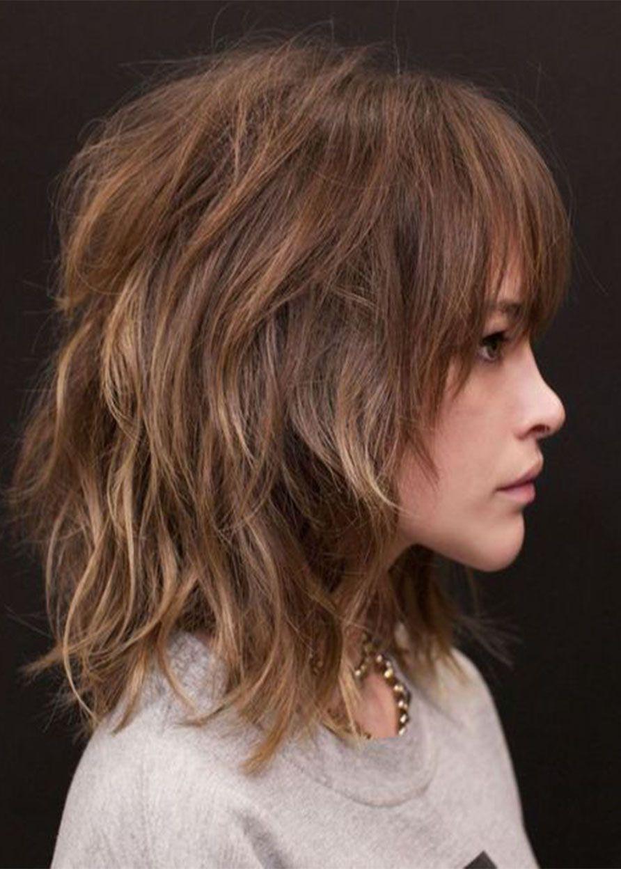 Medium Layered Hairstyles Women S Wavy Shag Shaggy Synthetic Capless Wig 18inch In 2020 Medium Shag Haircuts Medium Layered Hair Medium Hair Styles