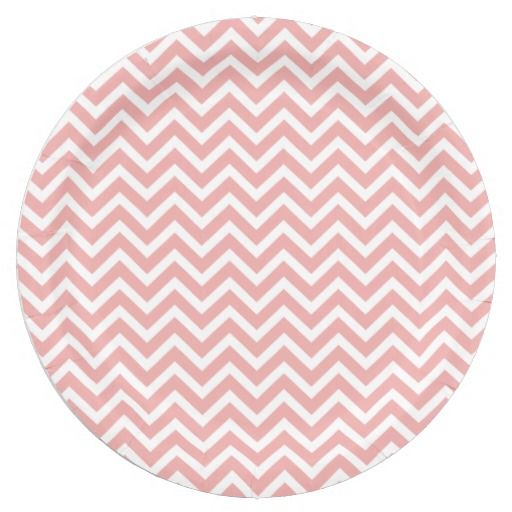 Graduation Party Decoration Ideas. Blush Pink and White Chevron Zig Zag 9 Inch Paper Plates  sc 1 st  Pinterest & Graduation Party Decoration Ideas. Blush Pink and White Chevron Zig ...