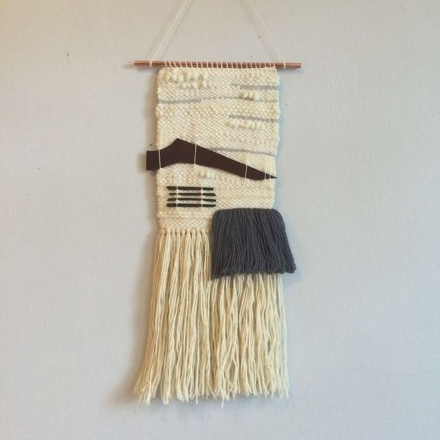 Image of Hand Woven Leather Accents Wall Hanging