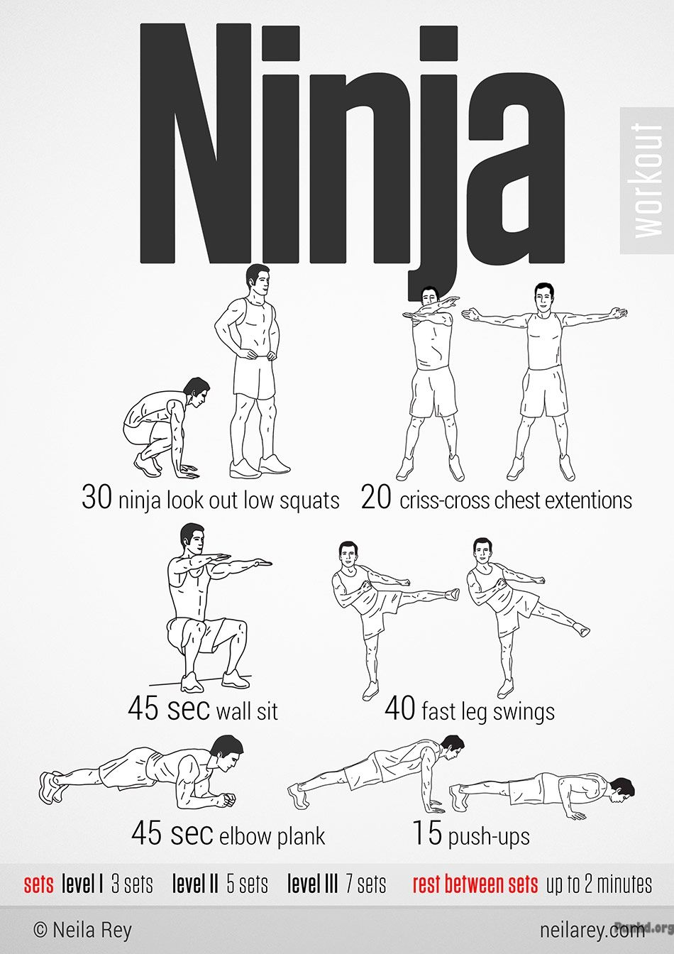 Ninja Workout 100 no-equipment workouts by Neila Rey ...
