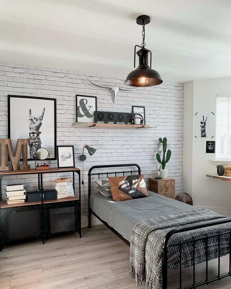 35 Awesome Teenage Boys Bedroom Designs Ideas 00016 Boy Bedroom Design Boys Bedroom Decor Industrial Style Bedroom