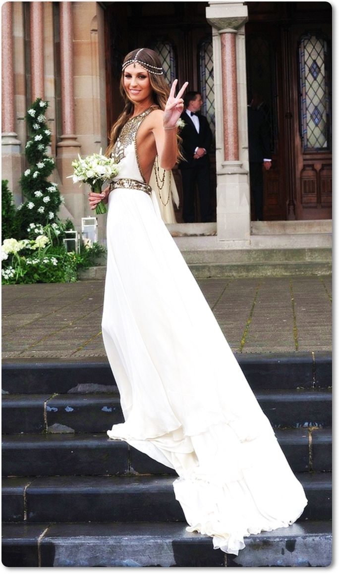 Novias boho chic vogue novia boho chic boda vestido lanovia