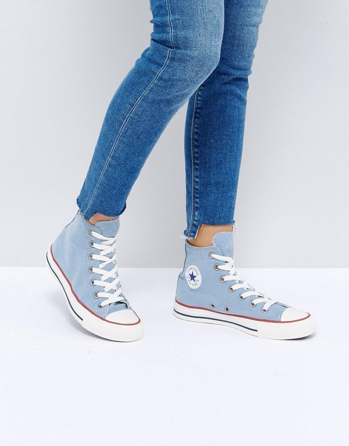 bc2771d250 ... italy converse chuck taylor all star ombre wash hi top sneakers in blue  866e3 99345