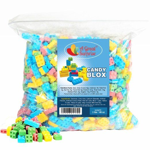 Candy Blox Build And Eat Blocks 3 Lb Bulk Candy Candy Drinks