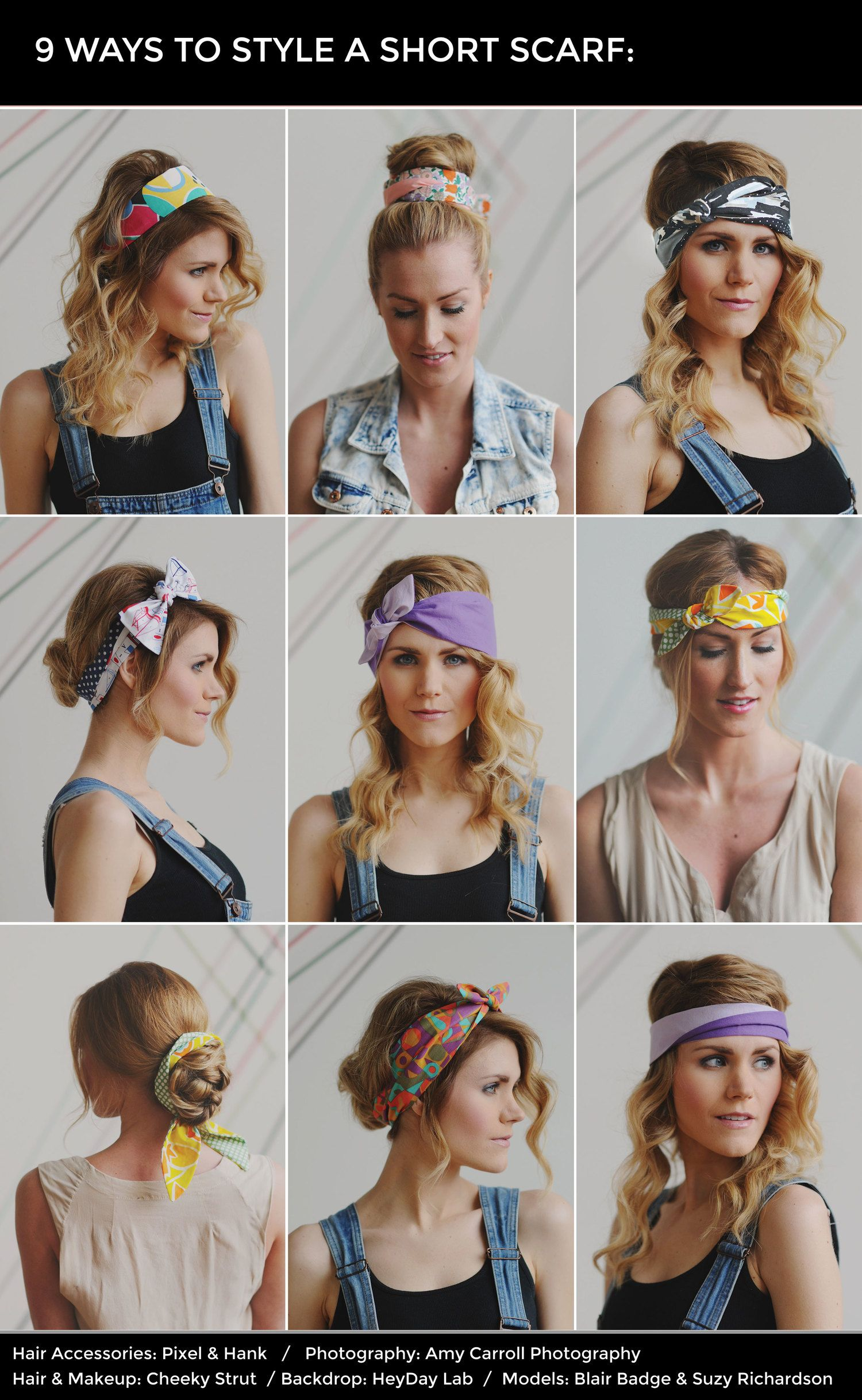 How To Style A Short Scarf In Your Hair Hair N Such Pinterest