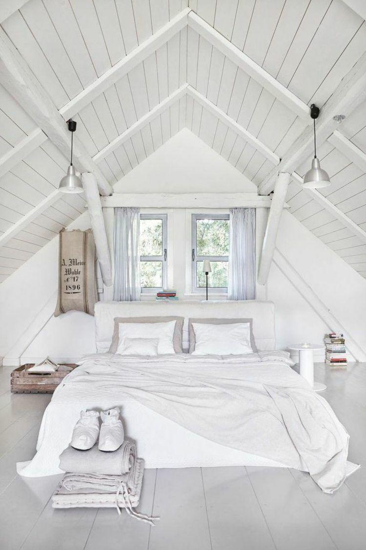 Chambre sous comble 12 belles idées de déco   Attic bedroom ...
