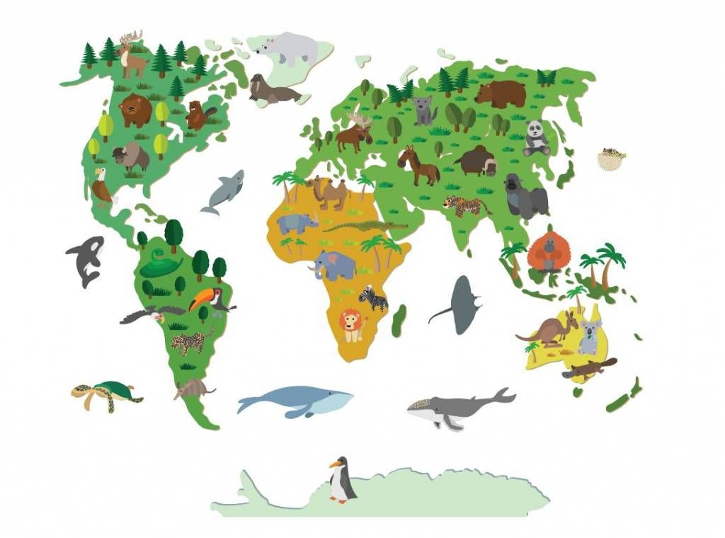 Muursticker wereldkaart kinderen pinterest muursticker wereldkaart kinderen thecheapjerseys Gallery