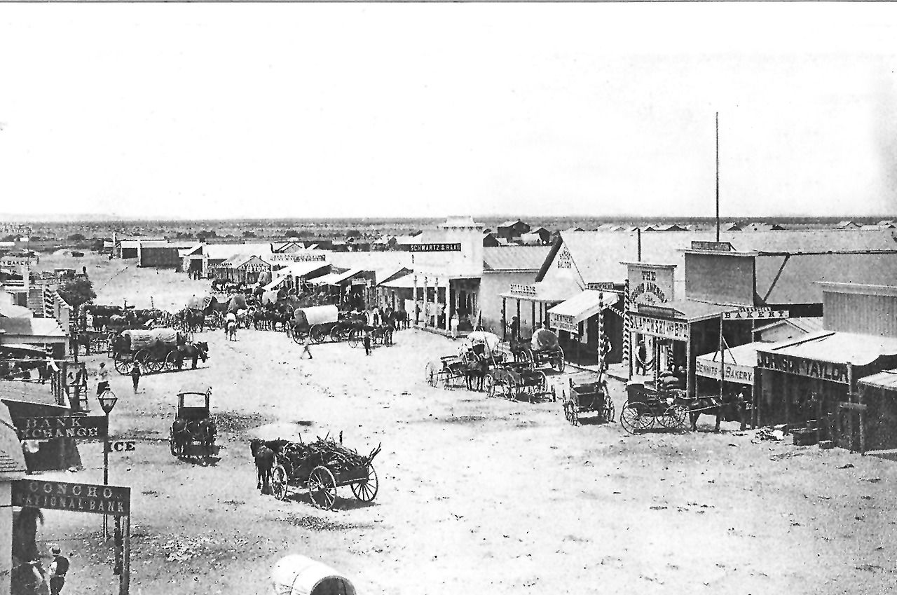 Concho Street In San Angelo Back In 1884 San Angelo Texas Old