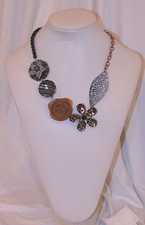 This is a necklace I made for an upcoming Boutique. For more info go to boutiqueinthebarn.blogspot.com or my blog at cloud9designbysarah@blogspot.com