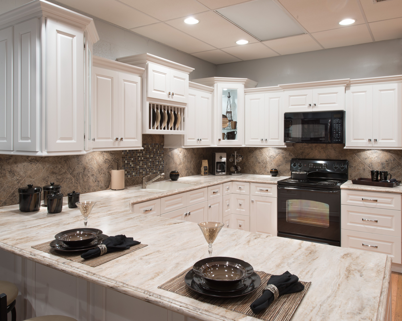 Best Aspen White Cabinets Boger Cabinetry Affordable Kitchen 400 x 300