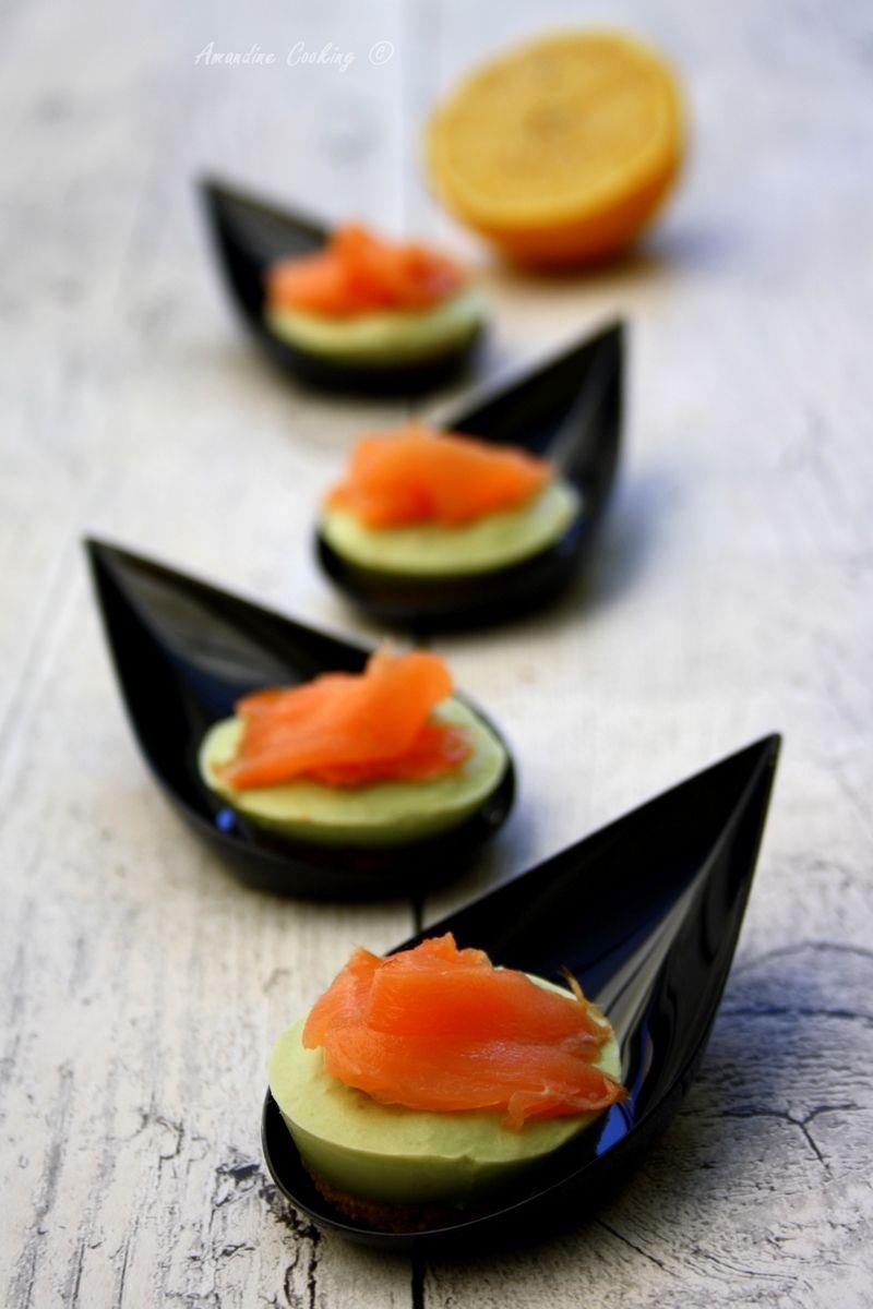 Recette Apéro Dinatoire Facile Sans Cuisson cheesecakes salés aux avocats et saumon | apéro (recettes salées)