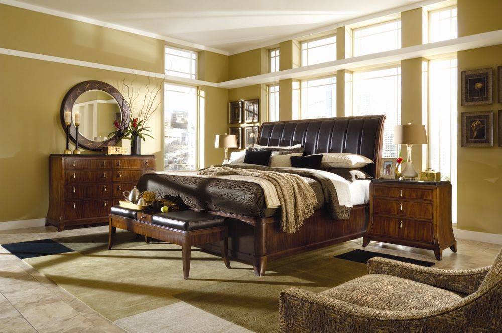 Best Bob Mackie Home Signature Sleigh Bedroom Set American 400 x 300