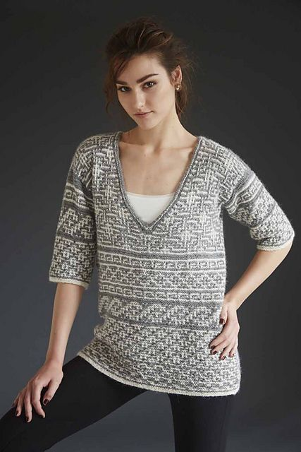 Ravelry: #08 Mosaic Sampler Pullover pattern by Pat Olski