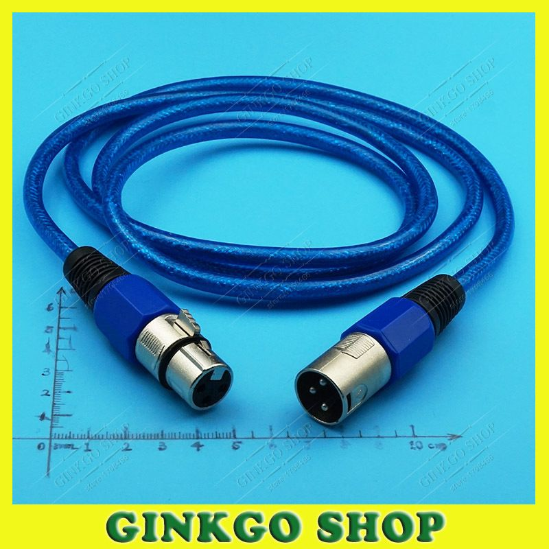 1pcs/lot Female to Male XLR 3 Pin Microphone Connectors Jack with ...