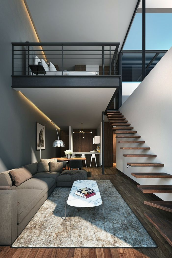 ▷ 1001 + nice ideas how to arrange your mezzanine bedroom #loftdesign