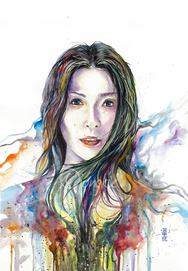 Anggun In Color Watercolor On Paper A3 Dessin