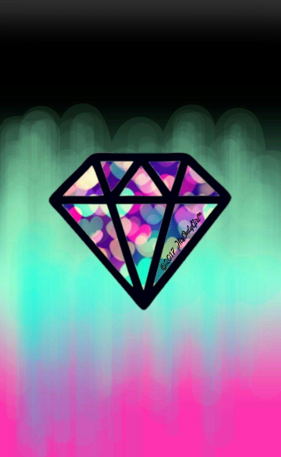 Gradient diamond wallpaper I created for the app CocoPPa