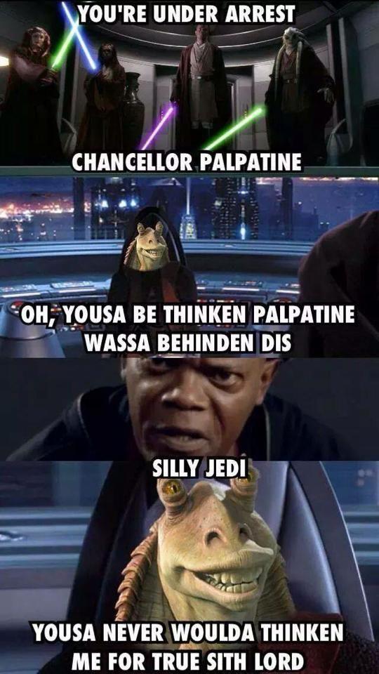 Darth Jar Jar Star Wars Jokes Star Wars Humor Star Wars Facts