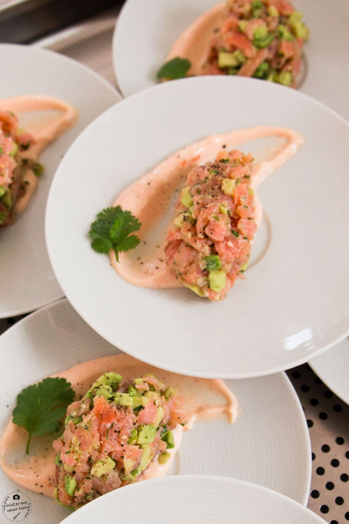 Photo of Salmon avocado tartare with lemon sriracha mayonnaise – treasures from my kitchen